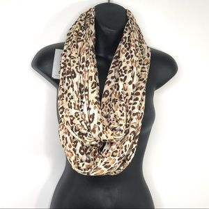 NEW Buckle Leopard Cheetah Print Infinity Scarf